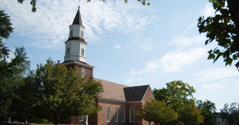 A brick church
