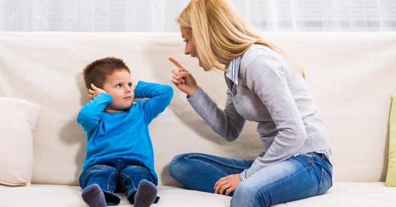 angry mom yelling at kid