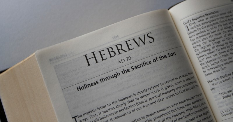 bible open to the book of Hebrews