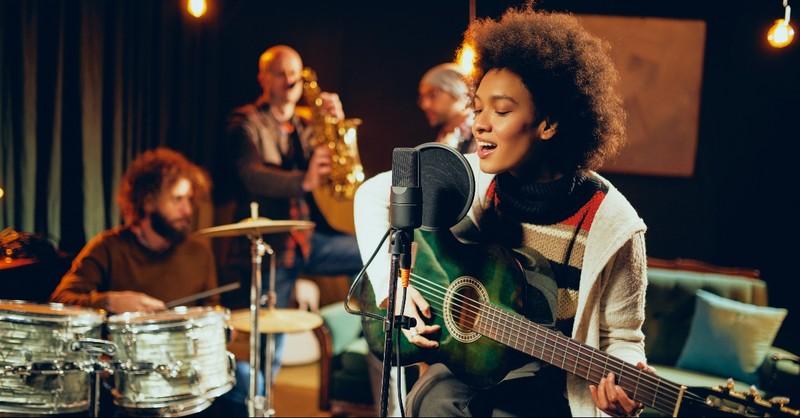 A band playing