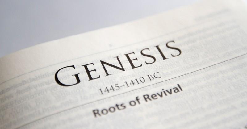Bible open to Book of Genesis