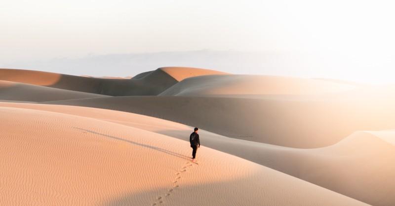 man in the desert