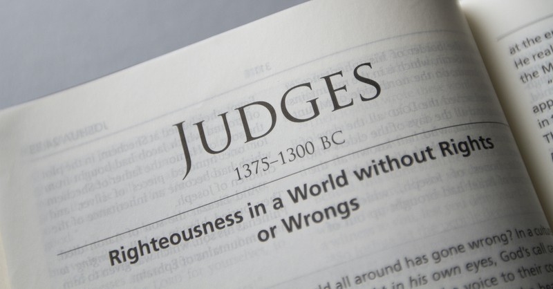 Bible open to book of Judges