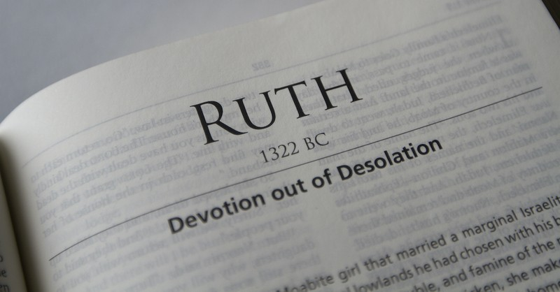 open Bible to book of Ruth, Ruth and Naomi