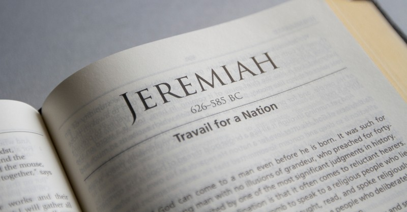 Bible open to book of Jeremiah
