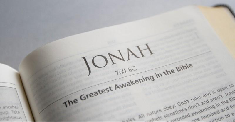 Bible opened to Jonah
