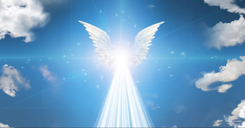 Angel in the blue skies