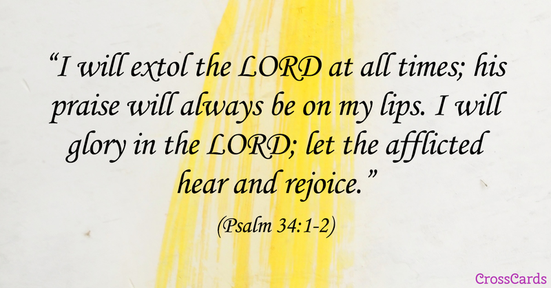Your Daily Verse - Psalm 34:1-2
