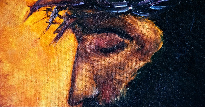 Painting of Jesus and the crown of thorns