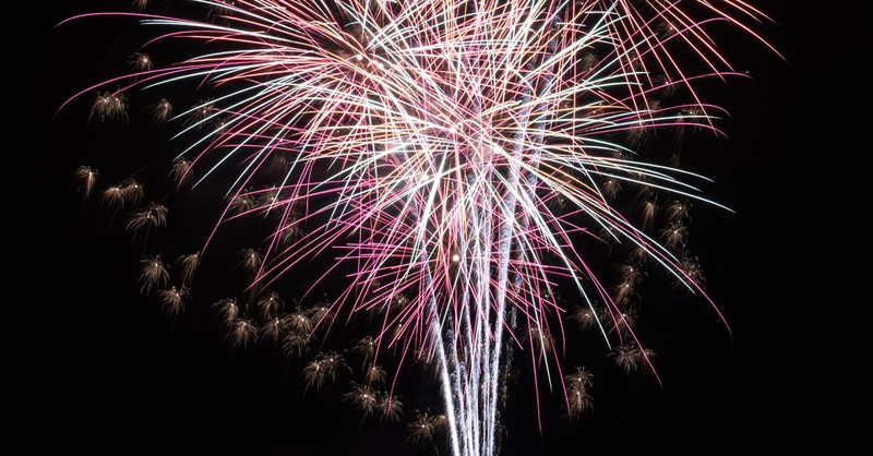 fireworks bursting fourth of july