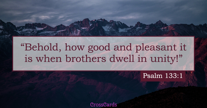 Your Daily Verse - Psalm 133:1