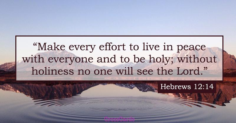 Your Daily Verse - Hebrews 12:14