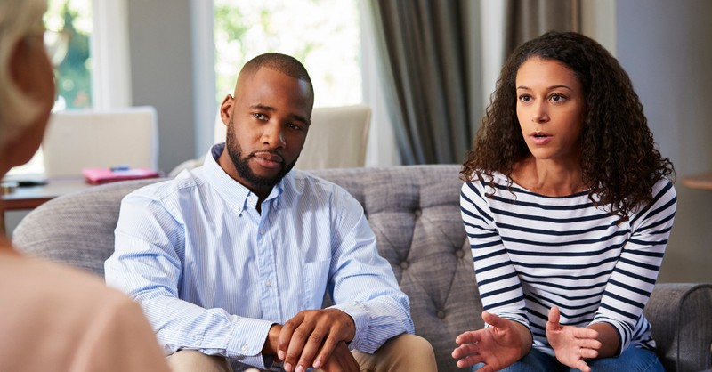 couple in marriage counseling