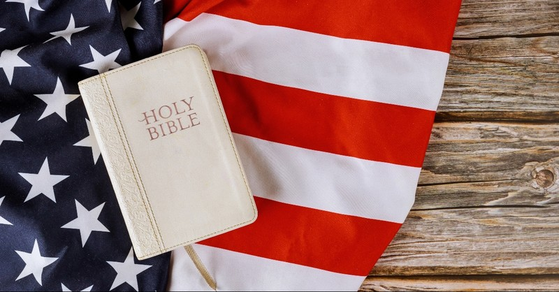 Bible on the American Flag