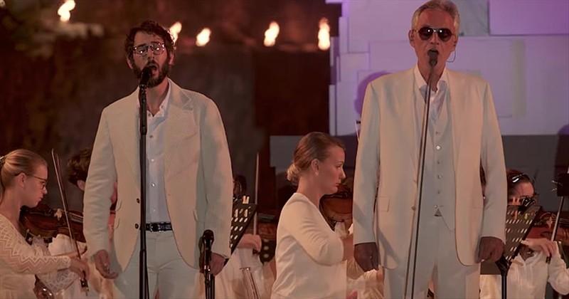 josh groban and Andrea Bocelli godtube