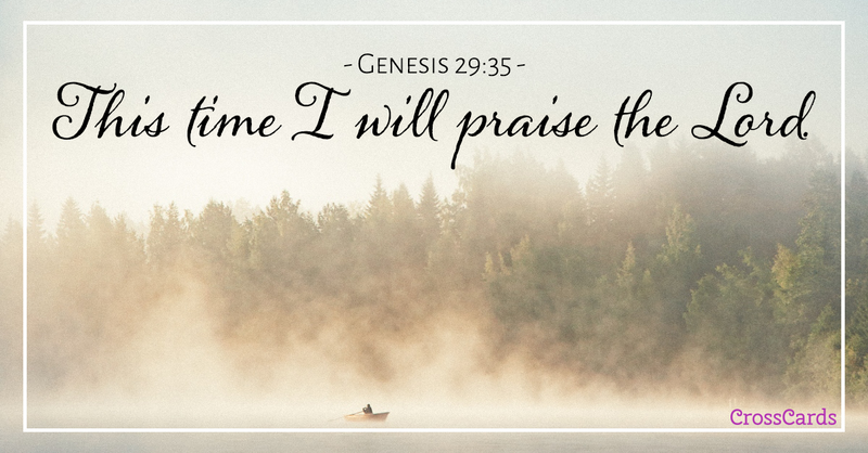 Your Daily Verse - Genesis 29:35