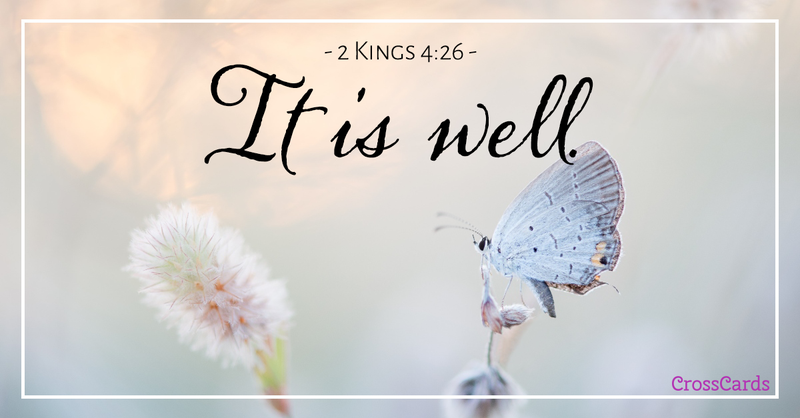 Your Daily Verse - 2 Kings 4:26