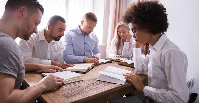 diverse group bible study serious