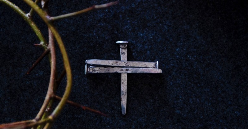 Nails in the shape of a cross