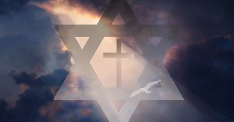 cross inside star of David to represent Messianic Judaism