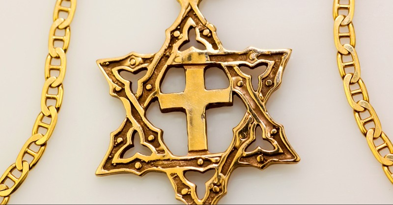 Star of David with a Cross gold necklace