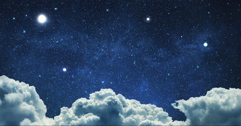 Two stars in the sky