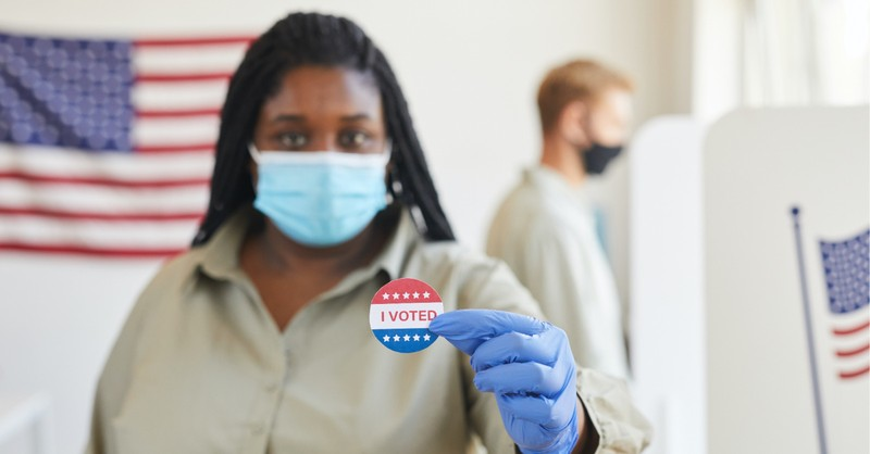 women holding up an 'I Voted' sticker, the ballot initiatives of 2020