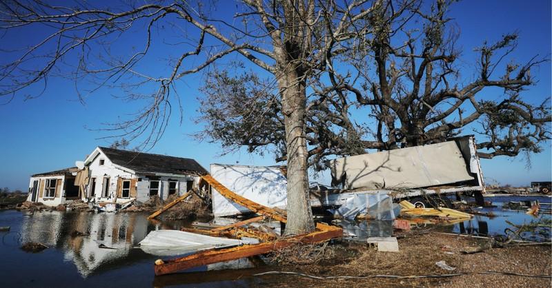 Louisiana is hit by Hurricane Delta