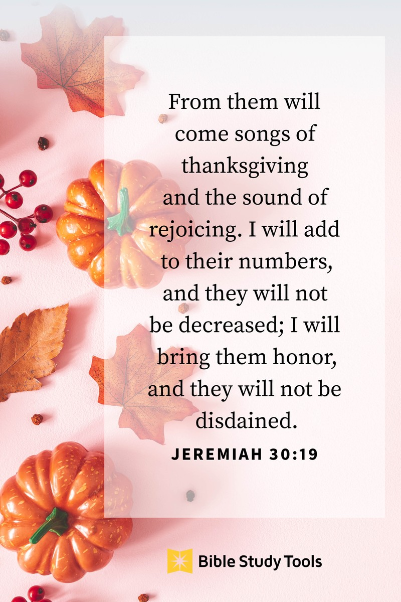 Your Daily Verse - Jeremiah 30:19