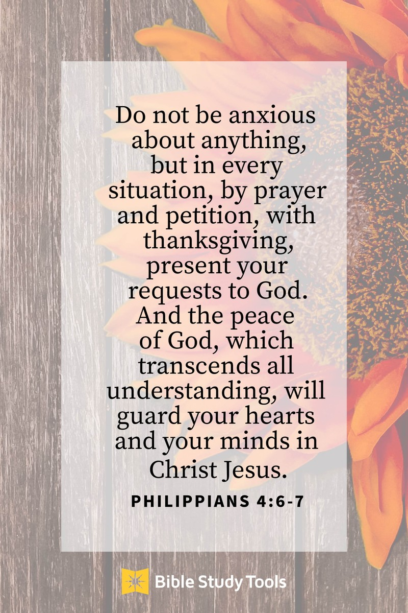 Your Daily Verse - Philippians 4:6-7