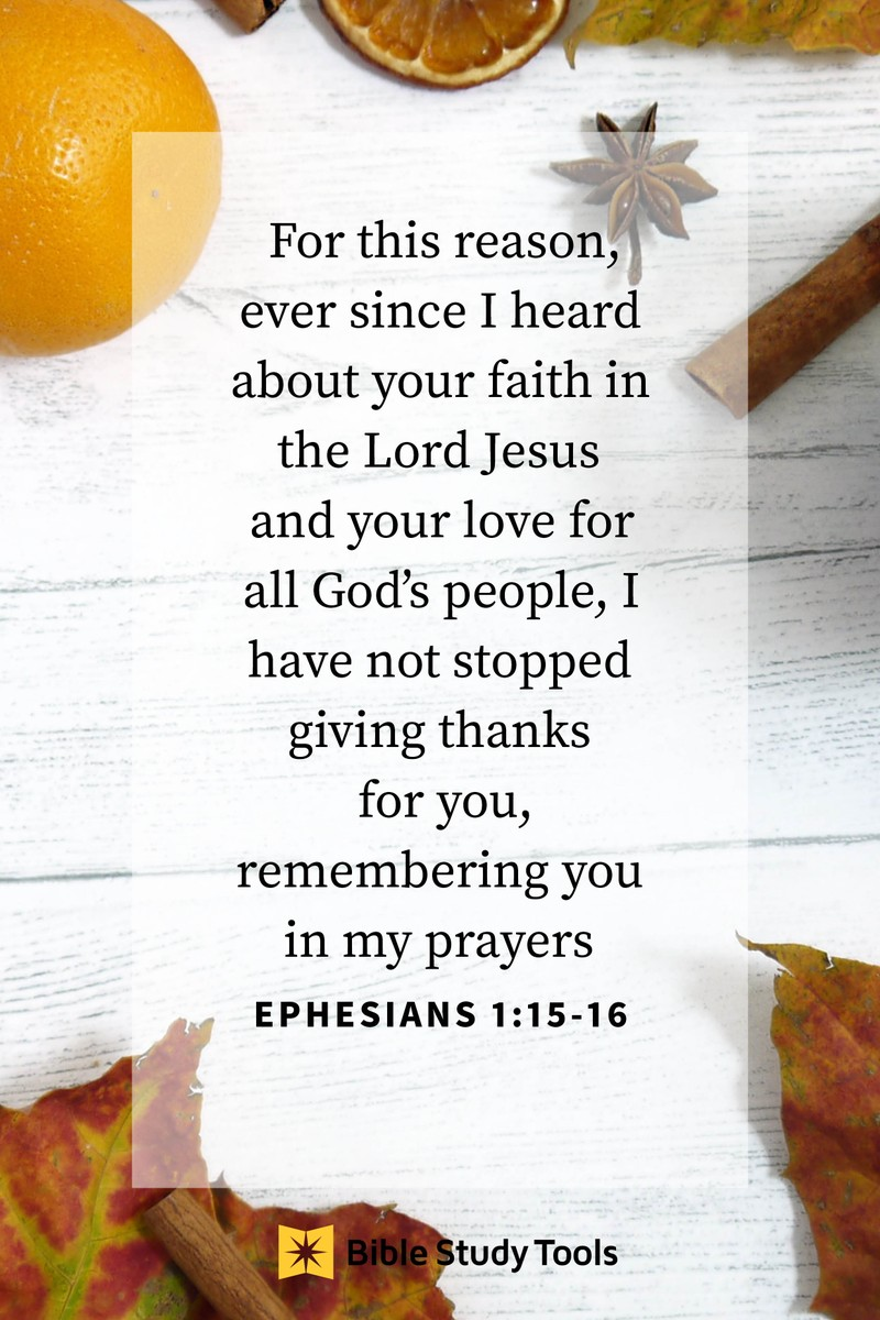 Your Daily Verse - Ephesians 1:15-16