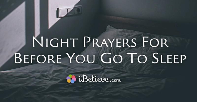 night prayers, bedtime prayers, evening prayer, prayer before sleep