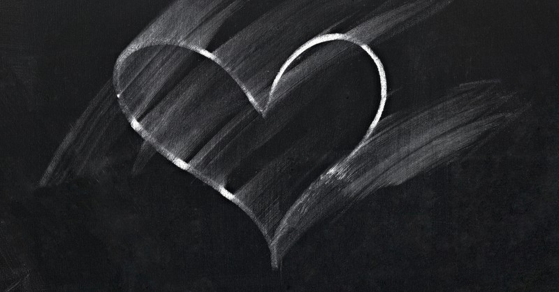 chalk drawn heart disappearing - samson and delilah