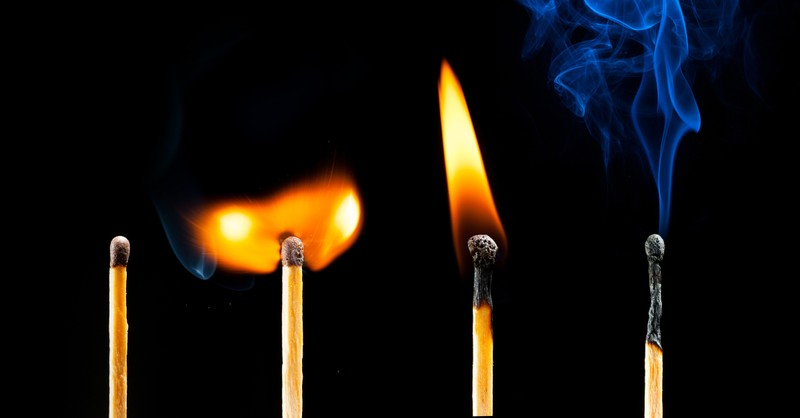 four stages of burning matches - sodom and gomorrah in the bible
