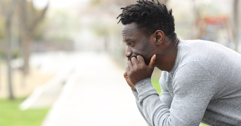 man in deep thought slow to anger