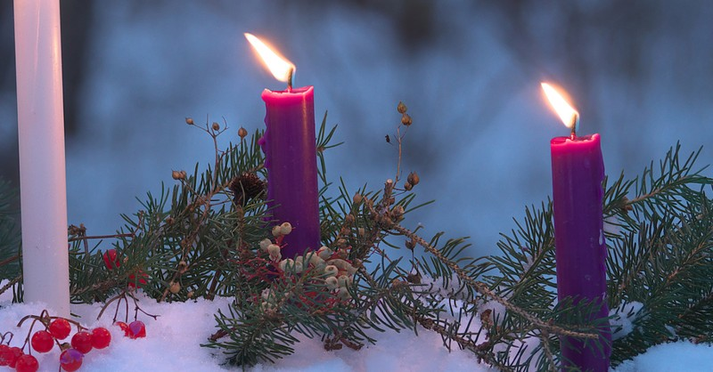 two purple candles second sunday of advent