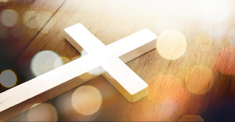 Cross in spotlight