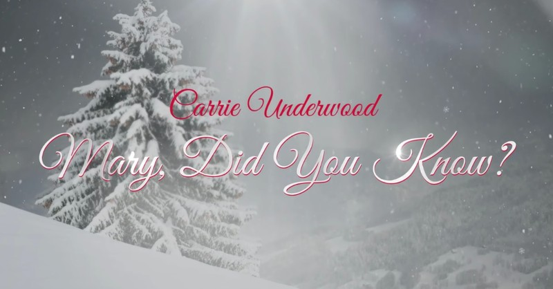 godtube-carrieunderwood-mary did you know