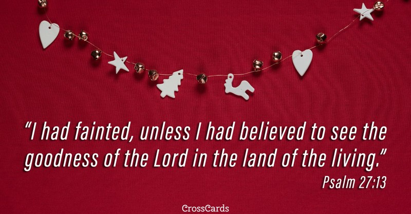 Your Daily Verse - Psalm 27:13