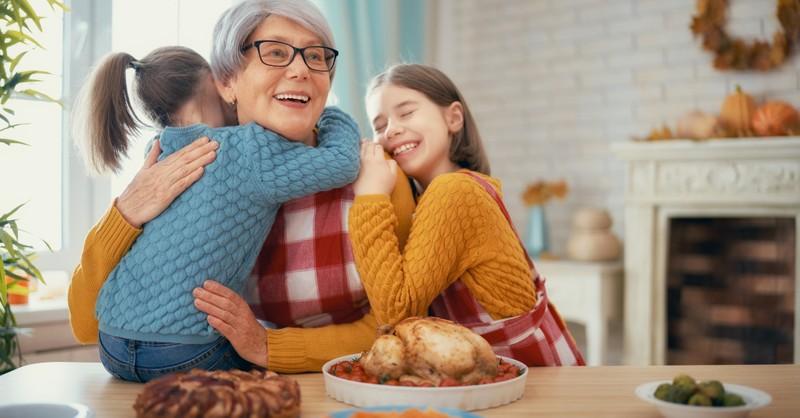 grandma at thanksgiving holiday