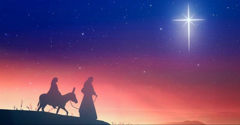 Mary and Joseph on the donkey