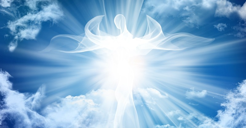 angel cloud in the sky, glory to God in the highest