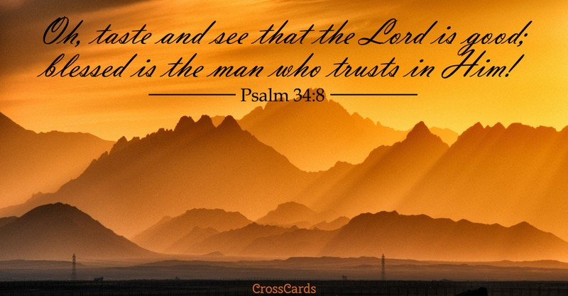 Your Daily Verse - Psalm 34:8