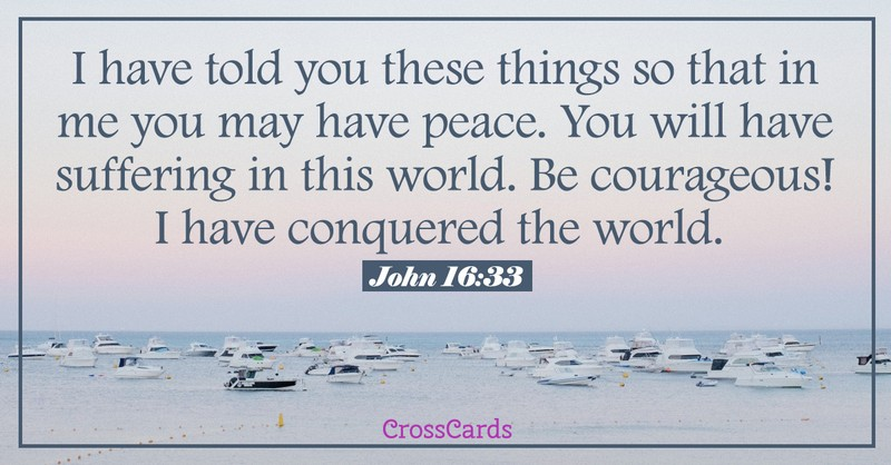 Your Daily Verse - John 16:33