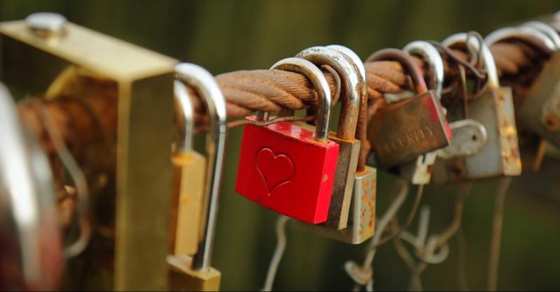 Locks on a bridge
