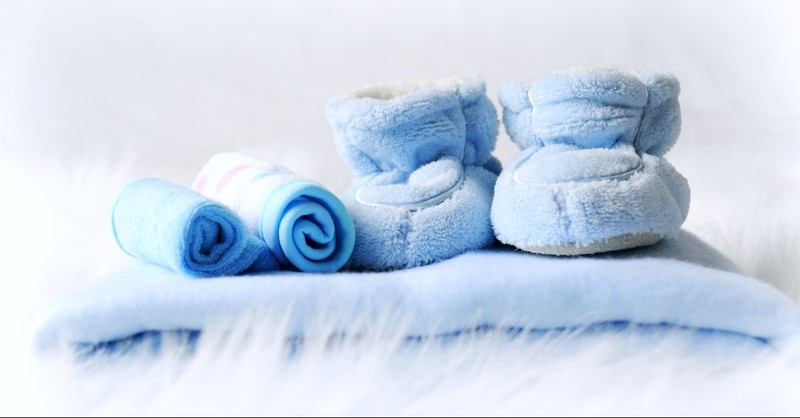 Baby boy shoes and blanket