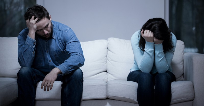 despondent married couple, overcoming adversity in marriage