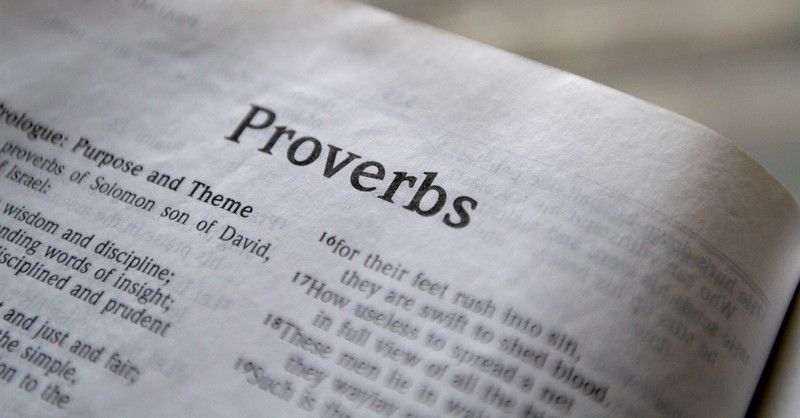 open Bible to book of Proverbs, who wrote Proverbs?