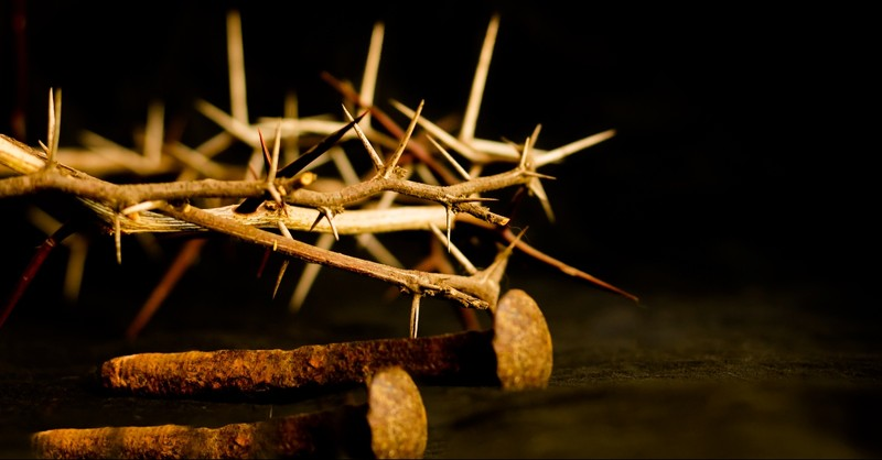 Crown of thorns and nails