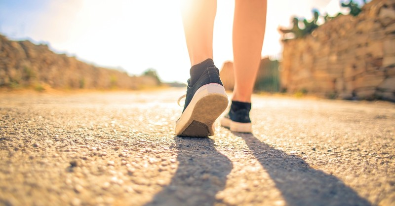 feet walking down sunny road, things god wants for you in the new year